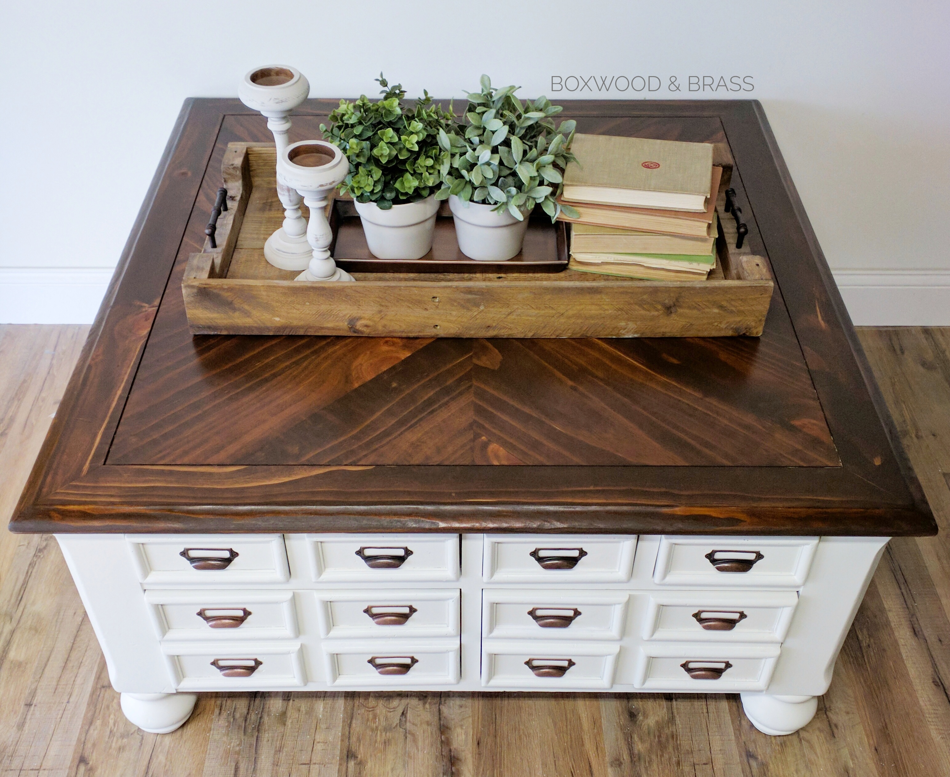 Card Catalog Coffee Table General Finishes 2017 Design Challenge