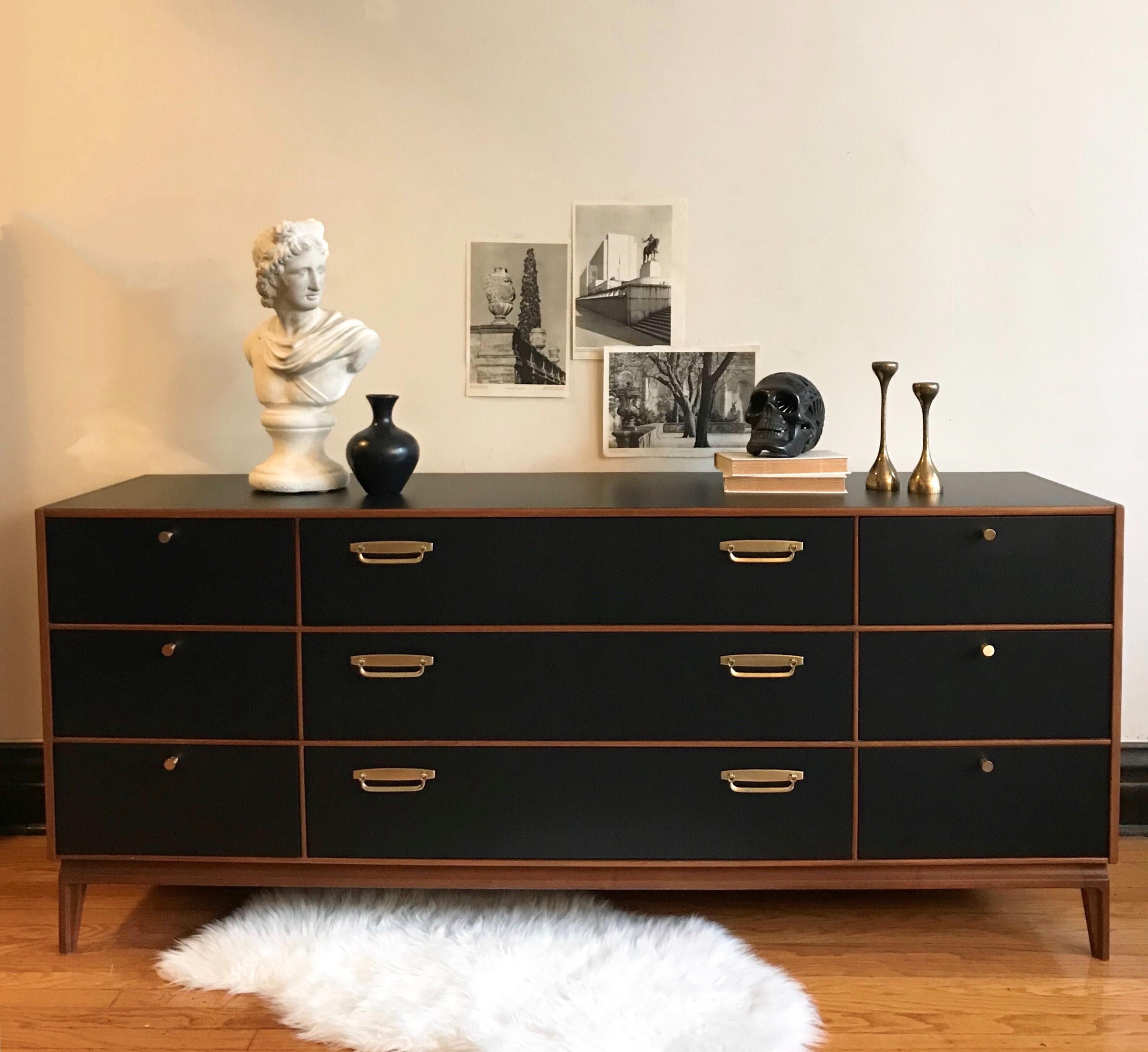 Image of: Lamp Black Mid Century Modern Dresser General Finishes 2018 Design Challenge