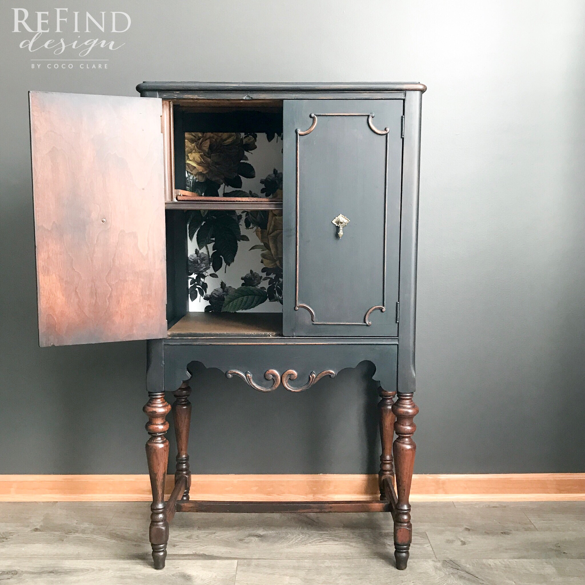 repurposed antique radio cabi  general finishes 2018