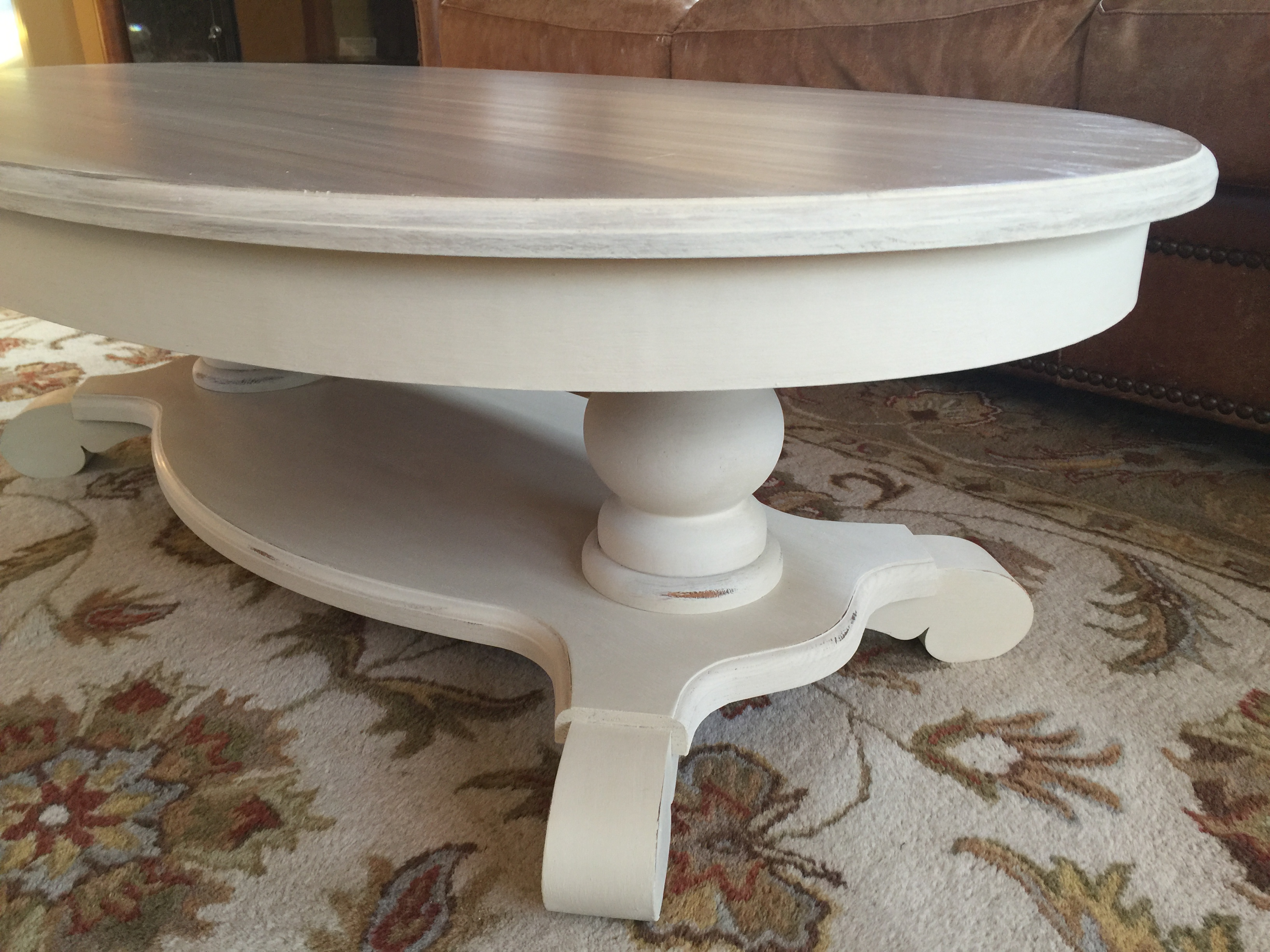 Chunky Leg Pedestal Coffee Table Redo General Finishes