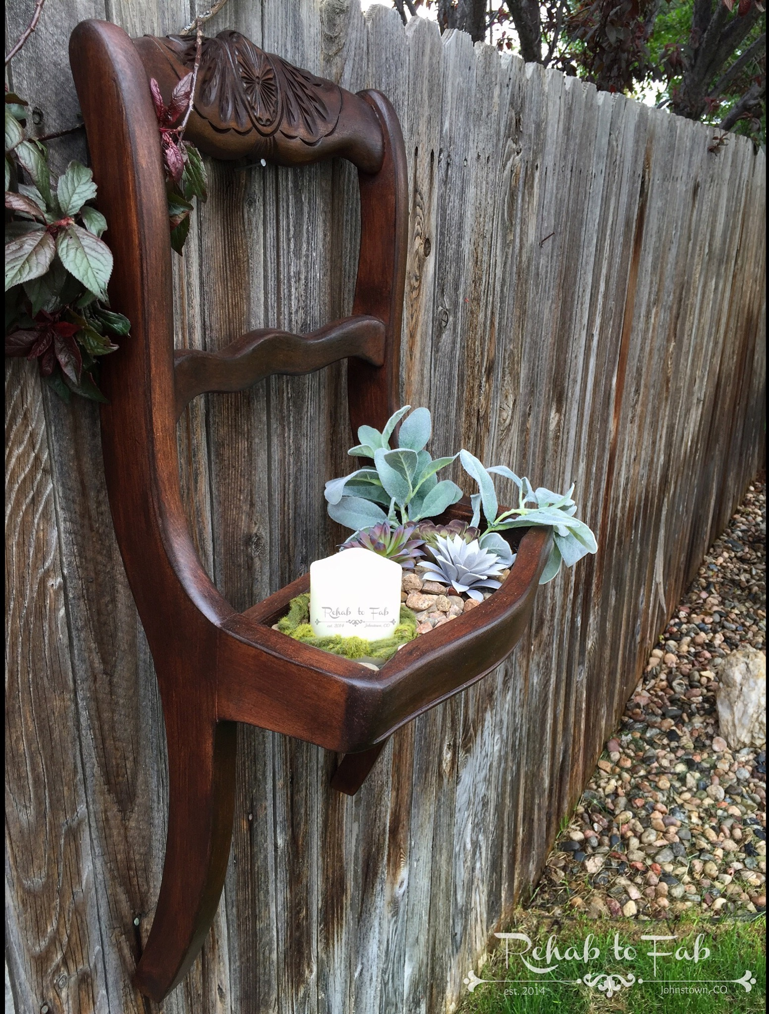 Broken Chair Turned Succulent Planter General Finishes