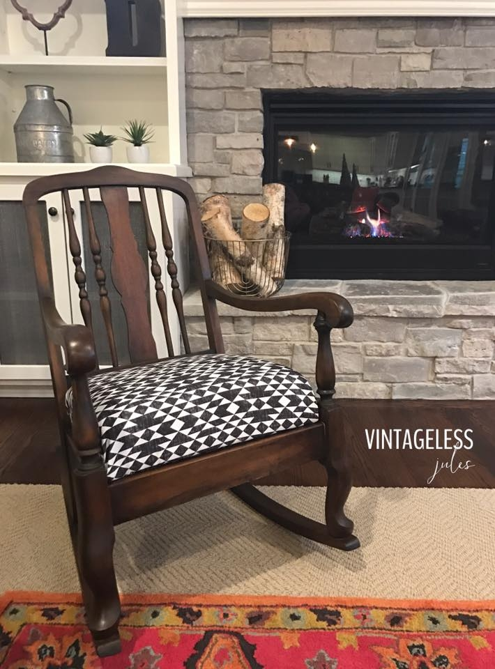 Miraculous Vintage Queen Anne Style Rocking Chair General Finishes Gamerscity Chair Design For Home Gamerscityorg
