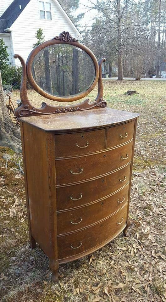 Antique Bow Front Dresser With A Stylish New Look General