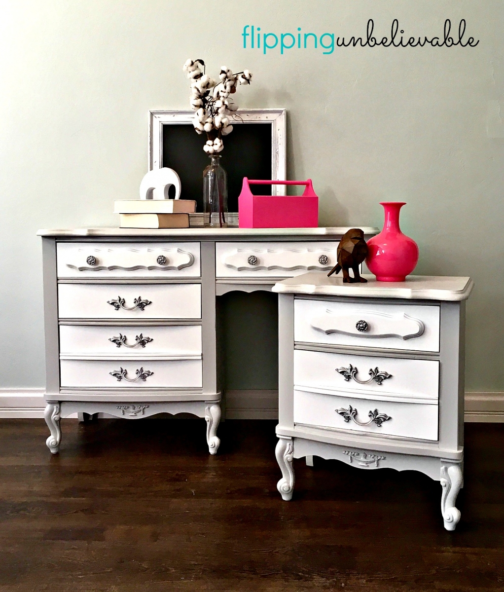 French Provincial Desk And Nightstand General Finishes