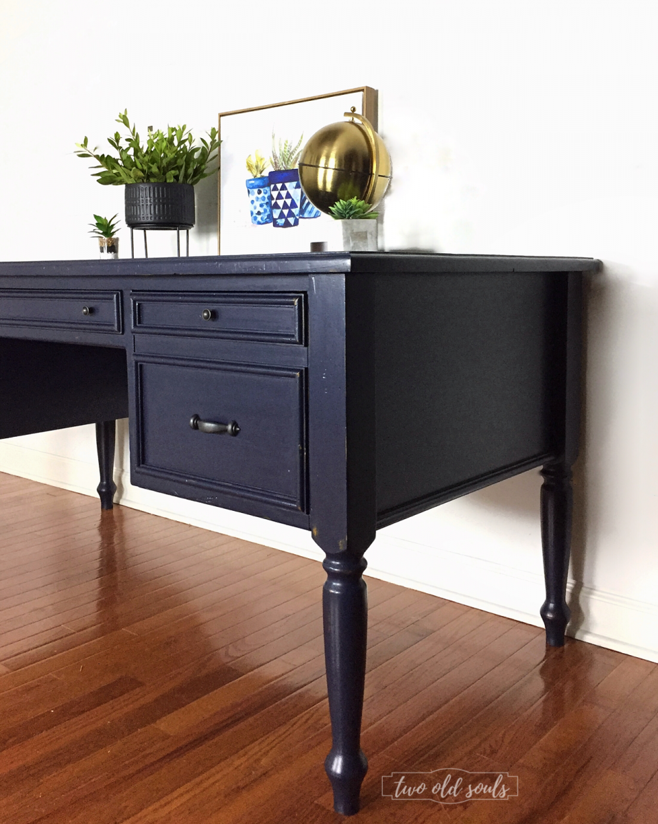 Executive Desk Painted In General Finishes Milk Paint