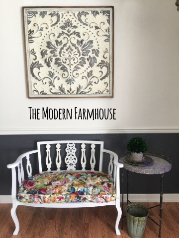 Floral French Settee