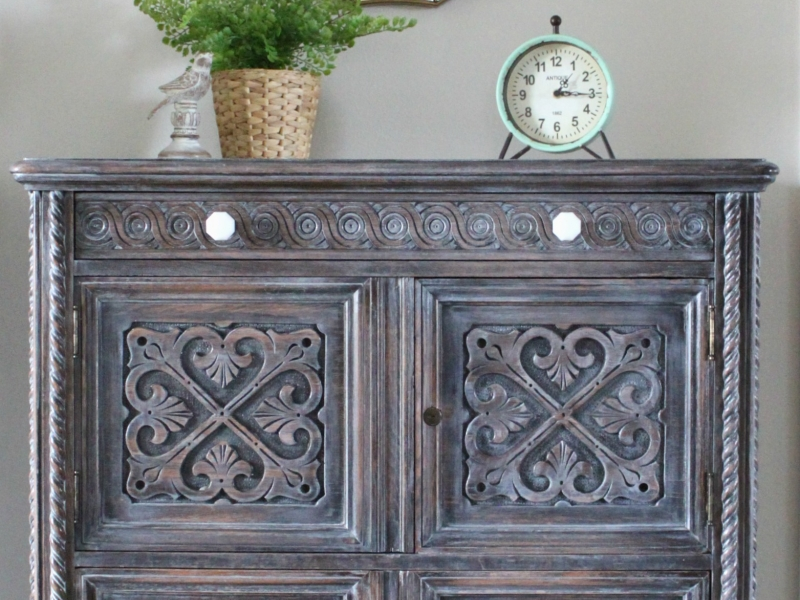 3rd Place: Winter White Antique Cabinet